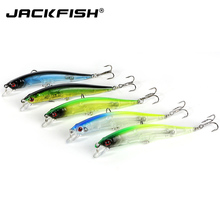 JACKFISH clear color fishing lures 5 pcs/lot fishing bait wobbler 12cm 9g minnow bass lure crankbait tackle Free shipping