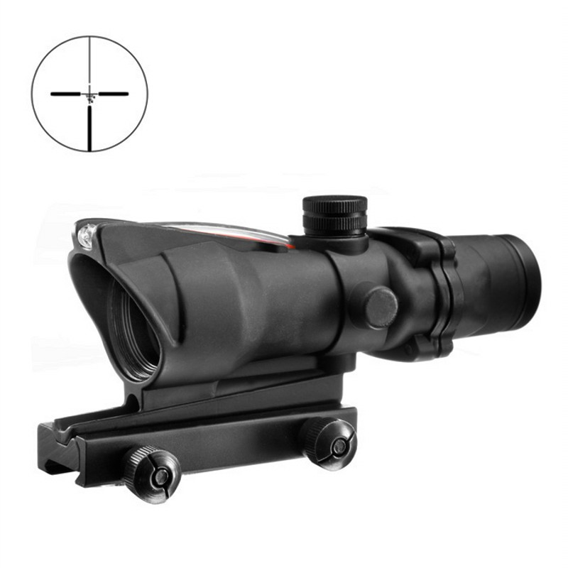 AIM ACOG 4X32 Red Dot Scope With Dummy Fiber Optical Sight Tactical Airsoft Riflescope Hunting Rifle Scope AO1004 tactial qd release rifle scope 3 9x32 1maol mil dot hunting riflescope with sun shade tactical optical sight tube equipment