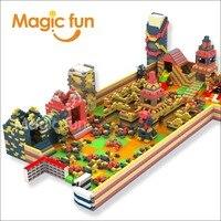 Волшебный весело детский парк развлечений EPP строительные блоки indoor раннее образование оборудования