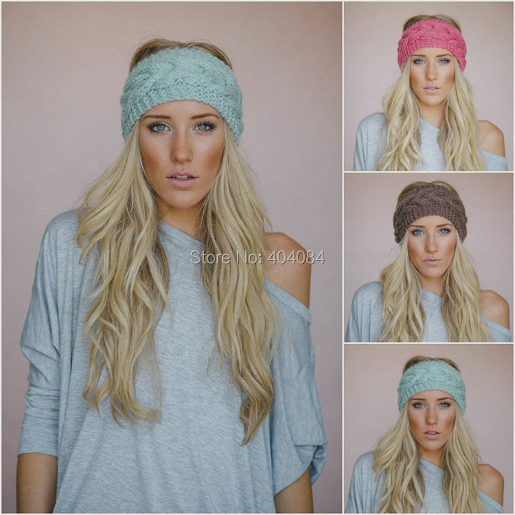 Online Shop Cable Knitted Headband Womens Fall Fashion Accessory