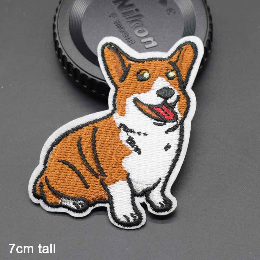 Пятнистая собака полная вышивка Железная на вышитой одежде нашивки для одежды наклейки одежды торговля - Цвет: zongbaise gou