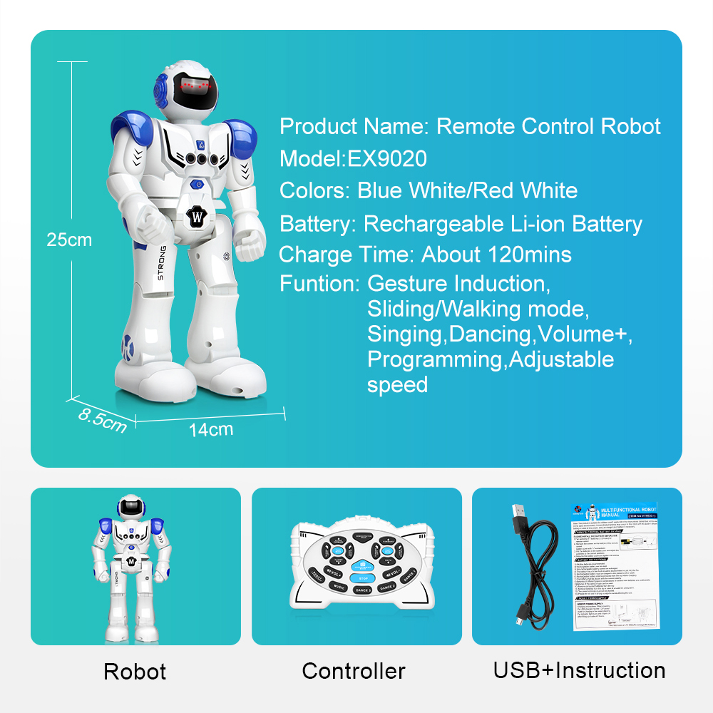 Image 2 - DODOELEPHANT RC Smart Robot Remote Control Robot Toy Action Figure With Gesture Function Toy For Boys Children Birthday Gift-in RC Robot from Toys & Hobbies