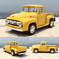 Brand New 1/38 Scale Car Toys 1956 Ford F100 Pickup Diecast Metal Pull Back Car Model Toy For Gift Kids Collection