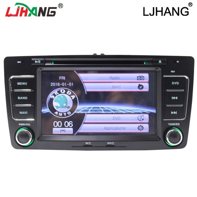 Wince sistema de DVD player do carro para Skoda Octavia 2014 2015 rádio cd player do carro da tela de toque com Bluetooth, nevigation GPS, swc