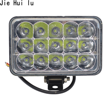 1Pcs 5 15 LED Extra Light Portable Working Flood Motor Tractor Truck Car Styling 45W 10-80V Wholesale Motorcycle Driving
