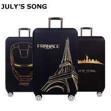JULY'S SONG Travel Accessories Luggage Cover Case For a Suitcase Protection Dust Cover Stretch Suitcase Cover Bag S/M/L/XL