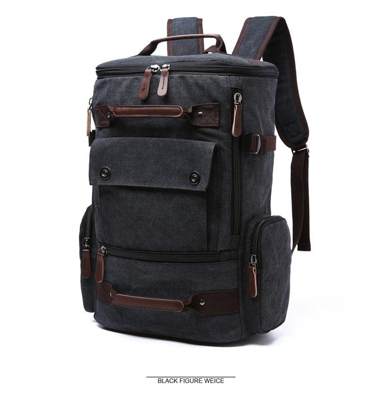 Men Laptop Backpack 15 Inch Rucksack Canvas School Bag Travel Backpacks for Teenage Male Notebook Bagpack Computer Knapsack Bags 4