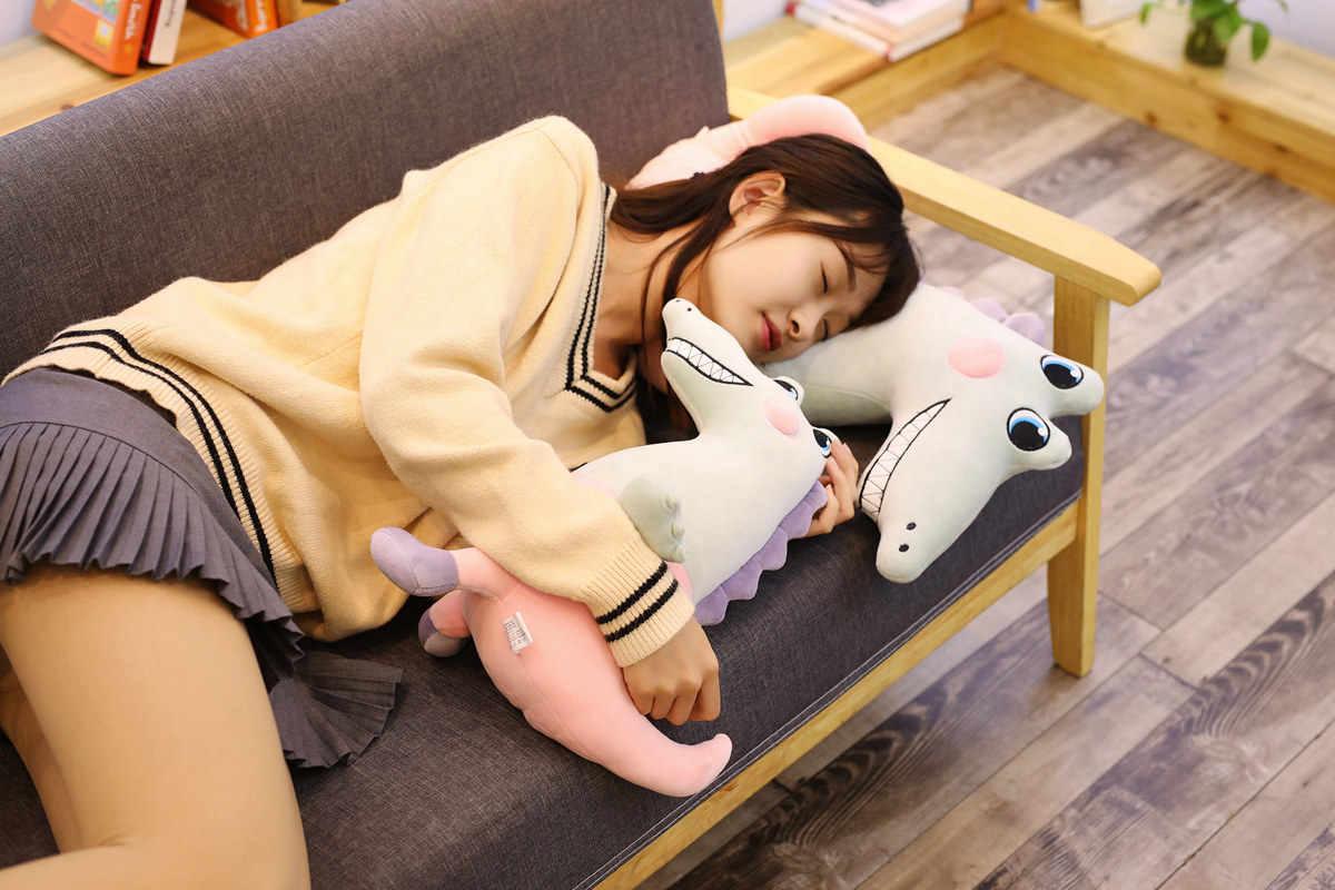 Muito bom Dinossauro Kawaii Brinquedos De Pelúcia Travesseiro Recheado Para Baixo Algodão Animal Macio Pillow Home Decor Linda Almofada Boneca de Presente de Natal