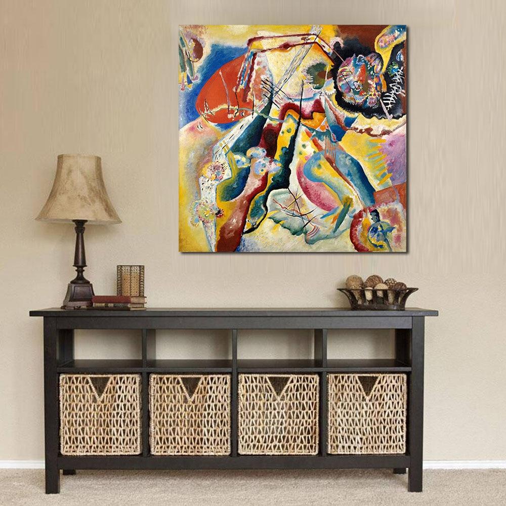 Абстрактный холст визуальные работы Василий Кандинский современный домашний Декор картина маслом для гостиной без рамки
