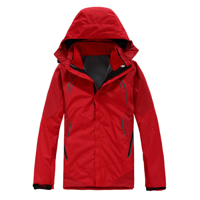 High quality Outdoor Men Soft shell Windbreaker Coat Waterproof Fleece Removable Two-piece Jacket Hiking Skiing Climbing Jacket