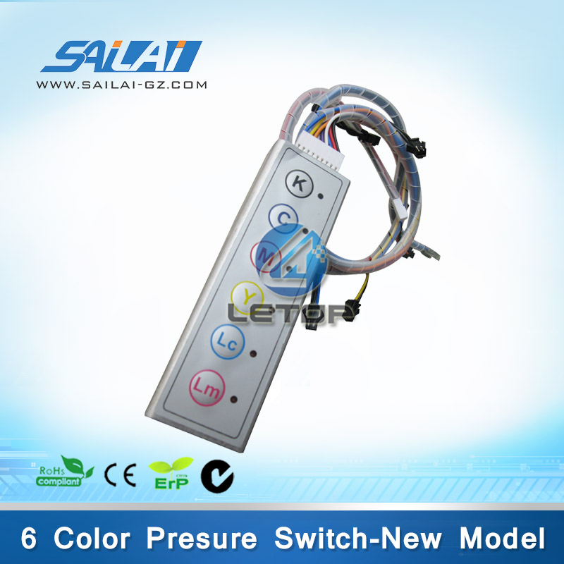 Infiniti new 6 color pressure switch digital pressure switch new model 6 color pressure switch for inkjet printer infiniti phaeton challenger gongzheng icontek machine