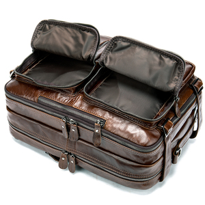 Image 5 - WESTAL Büyük Kapasiteli Erkekler Evrak Çantası Hakiki Deri İş Belge Çanta Erkekler için Deri laptop çantası 14 inç Bilgisayar Çantası 433