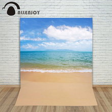 Allenjoy photographic background Sea Sky Beach Cloud backdrops newborn wedding props digital 150x200cm