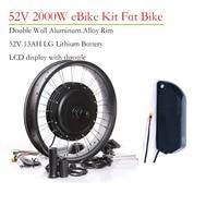 52v 2000w Fat Bike Motor Kit Electric Bike Conversion Kit 52v 13ah Lithium battery Pack