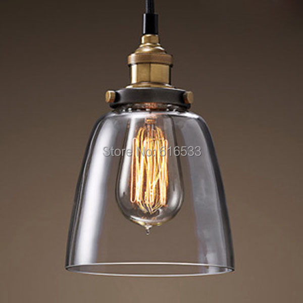 RH Vintage Loft Industrial American Lustre Glass Edison Pendant Lamp Kitchen Dinning Living Room Modern Home Decor Lighting loft rh vintage pendant lights glass