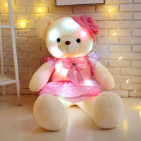 CXZYKING 50CM Glowing Teddy Bear With Clothes Luminous Plush Toys Lovely Stuffed Animal Toy For Girl