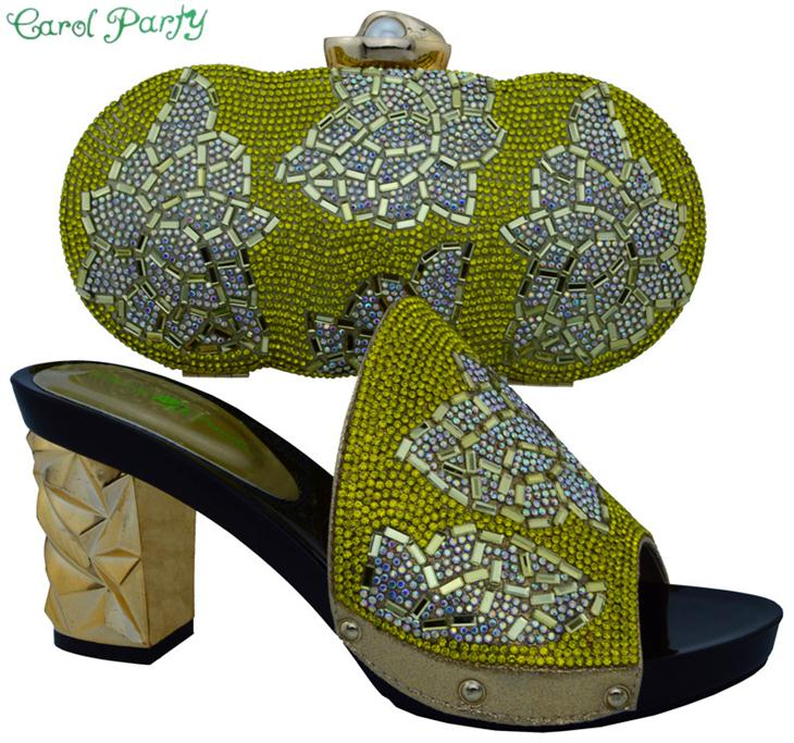 New Shoes and Bags Combine African Italian Shoes and Bag for High Quality Italian woman Matching shoes and bag set BCH-10
