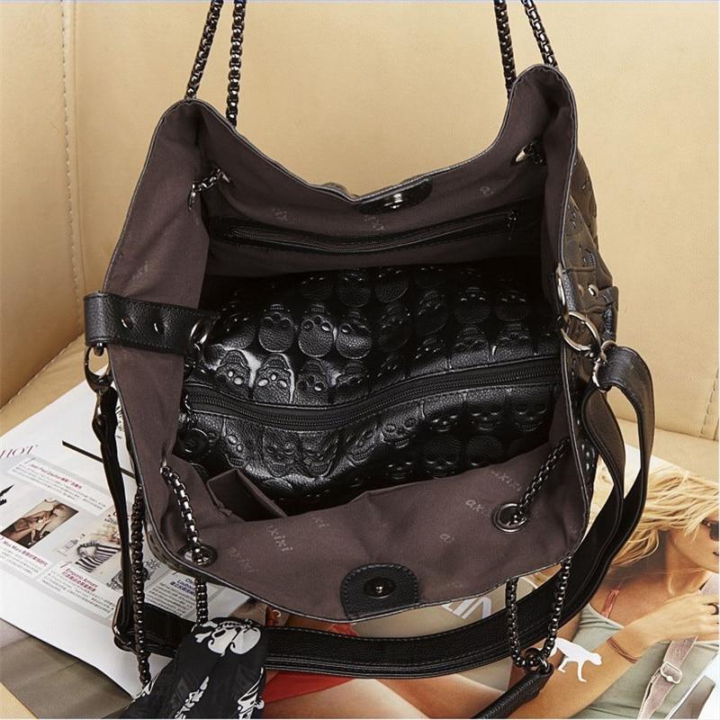 de ombro ocasional de seda Tipo de Estampa : Skull Handbag