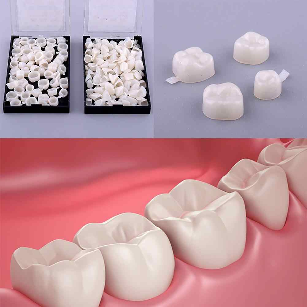 HOT 50Pcs Resin Dentistry Oral Dental Temporary Posterior Anterior Teeth Crown Resin Tooth  Oral Supplies Newest
