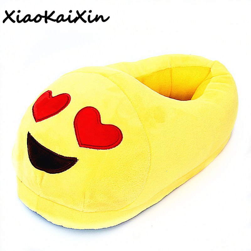 Unisex Couples Cartoon Plush Home Shoes for Men&Women Winter Indoor Funny emoji Slippers Warm PP Cotton House Slipper Fit gifts cry emoji cartoon flock flat plush winter indoor slippers women adult unisex furry fluffy rihanna warm home slipper shoes house