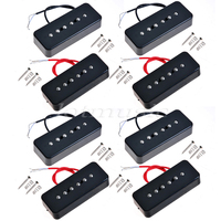 4 Sets Soap Bar Pickup Black Neck Pickup For Electric Guitar P90A Replacement Parts