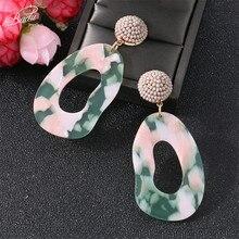 Badu Colorful Acetate Acrylic Earring Big Geometric Boho Vinatge Earrings for Women Statement Jewelry Acid 2019 Spring New