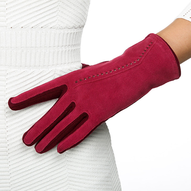REALBY Women Thicker Gloves Winter Luvas de inverno Guantes Mujer Formal Gloves Suede Mittens Elegant Warmer&Soft Gants Femme 2