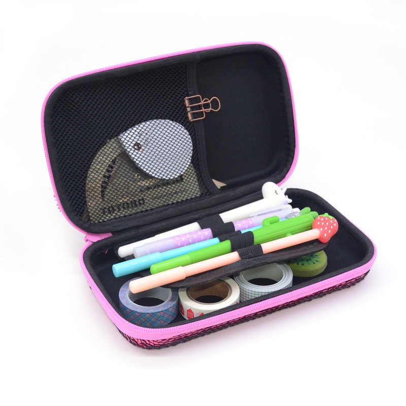 الترتر مقلمة إيفا estuche اجتماعيون الملونة اللوازم المدرسية Kawaii trousse scolaire stylo kalem kutusu قلم رصاص مربع