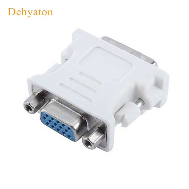 Dehyaton DVI DVI-I 24 + 5 Pin Pria vga Female Video Converter Adapter untuk PC laptop VGA Adapter Converter