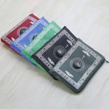 Muslim Portable Pocket Travel Prayer Mat With Compass Waterproof Rug With Qibla Kaaba Compass
