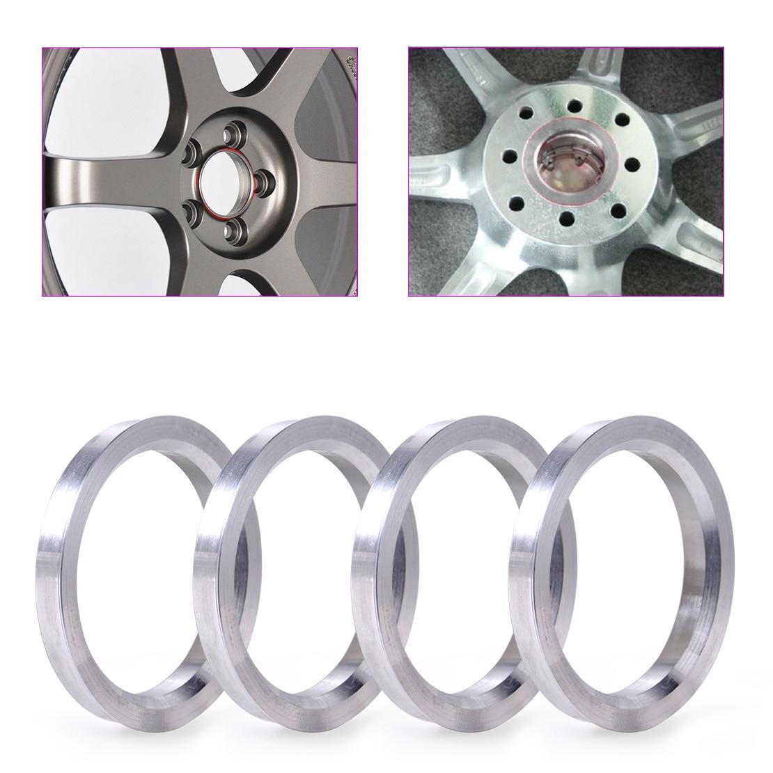 NO LOGO KF-RINGS 4PCS//lot Car Wheel Hub Centric Rings OD=67.1mm ID=66.1mm Aluminium Alloy Car Wheel Bore Center Collar
