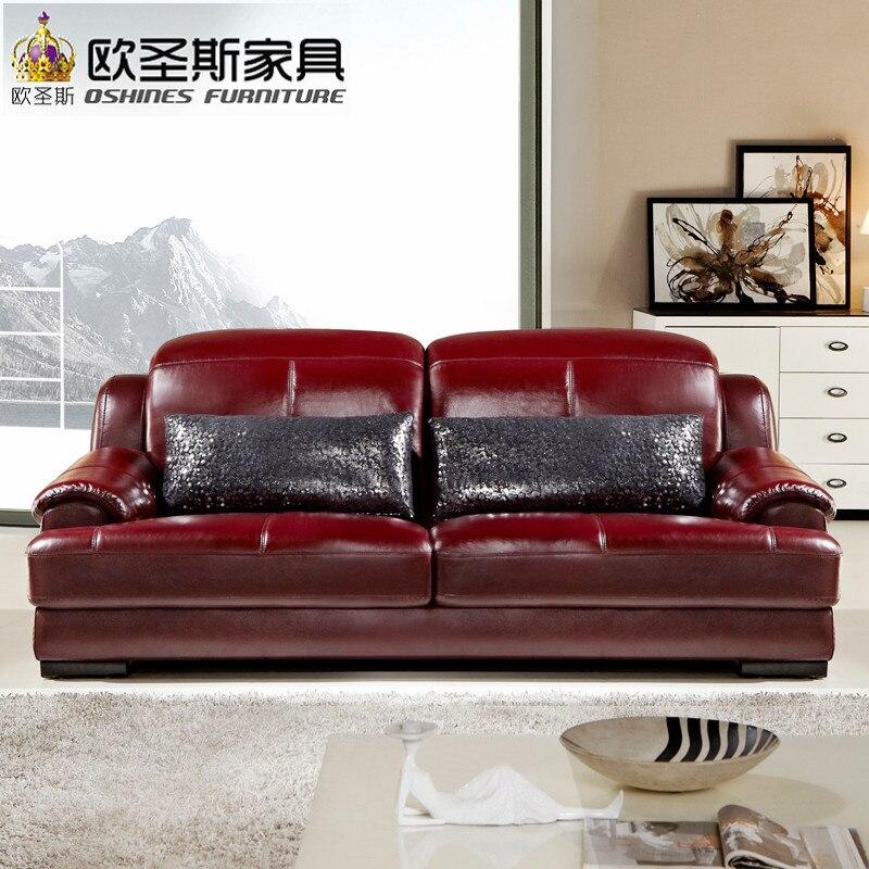 2019 Modern Design Baroque Red Purple Leather Sofa Set