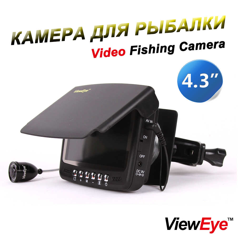 "ViewEye Original Video Fish Finder Underwater Ice Video Fishfinder Fishing Camera 8pcs Infrared LED 4.3"" inch monitor camera kit"