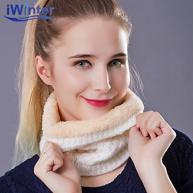 IWINTER 2018 Fashion Winter Scarf For Women Men Thickened Wool Collar Scarves Boys Girls Cotton Neck Scarf Drop shipping