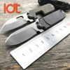 LDT Bean Mini Folding Knife S35VN Blade Stone Wash Titanium Handle SR Key Chain Knives Survival