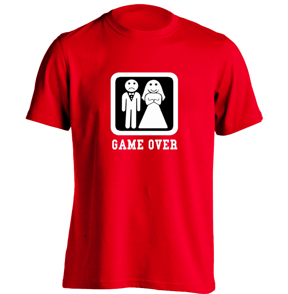 Game Over Wedding Bachelor Party Mens Womens Cool T Shirt Design T