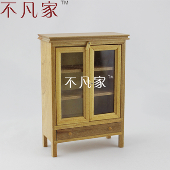 FINE 1/12 SCALE MINIATURE FURNITURE HAND CRAFTED CABINET FOR DOLLHOUSE DECORATION 1 12 scale fine dollhouse miniature furniture white cabinet