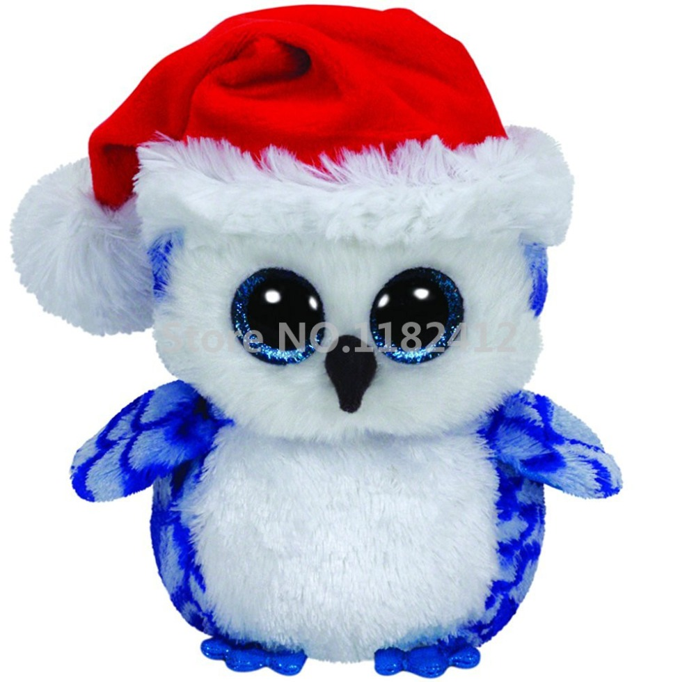 d604b1a59a0 Ty Beanie Boos Christmas Icicles Blue Owl Plush Toy 6   15cm Cute Stuffed  Animal