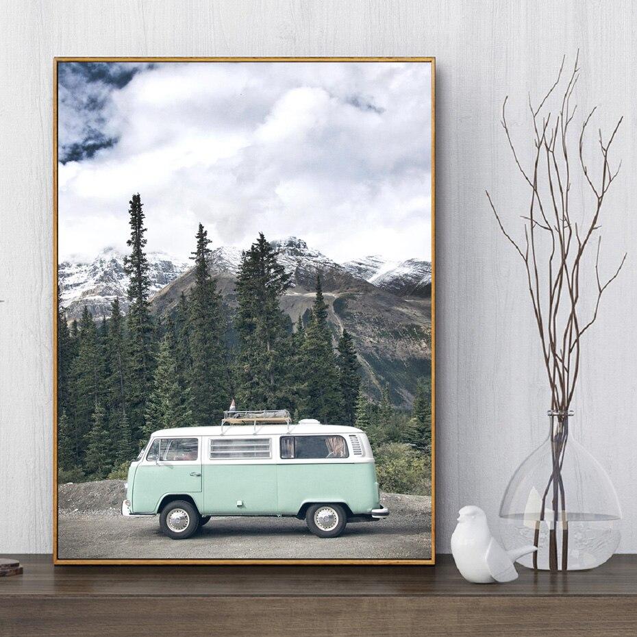 Nordic Art Landscape Motivational Poster Canvas Print Modern Home Decoration