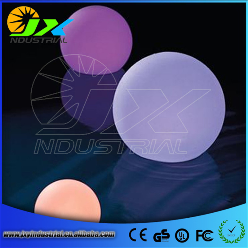 Free Shipping Colorful LED table lamp, rechargeable LED glowing lighted ball pool light waterproof IP68