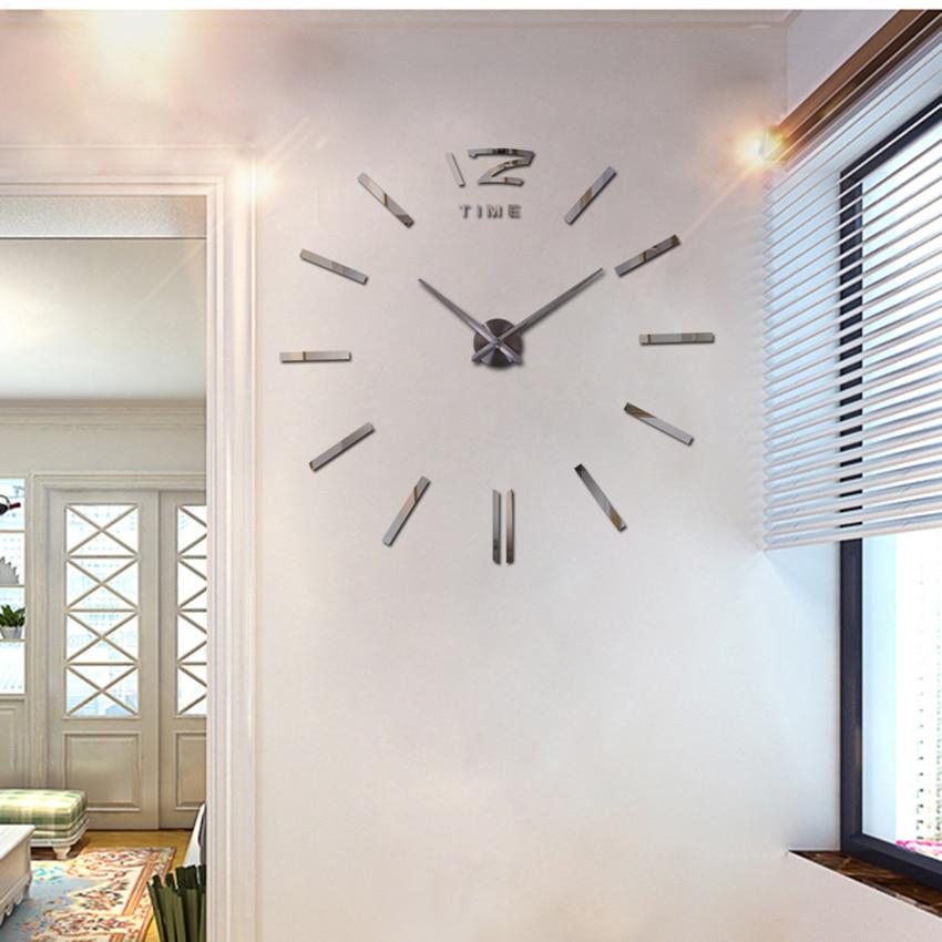 Ev Dekorasiya Divar Saatı Böyük Güzgü Divar Saatı Müasir - Ev dekoru - Fotoqrafiya 2