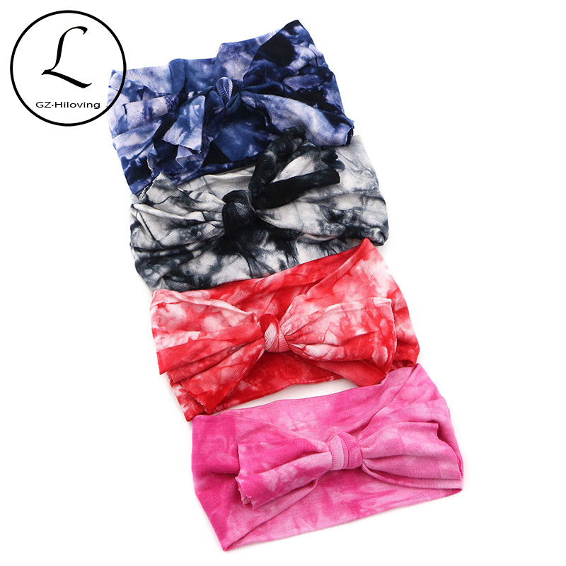 2018-hot-selling-baby-products-new-hair-bands-headband-kids-hair-accessories-baby-girls-cute-diy-elastic-bow-dye-tie-headband