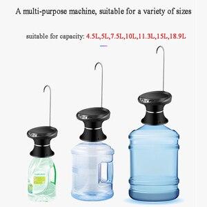 Image 3 - Woda butelkowana pompowanie USB akumulator dozownik do wody gospodarstwa domowego elektryczny czysty wiadro ciśnienie wody bezprzewodowa pompa wody