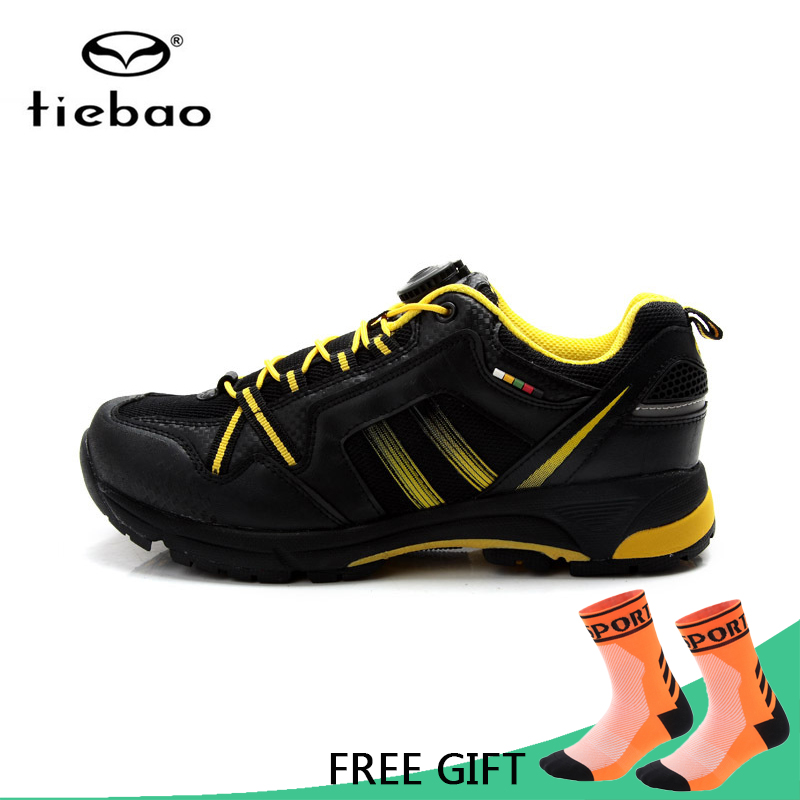 Tiebao MTB Bicycle Cycling Shoes Leisure Outdoor Sport Sneaker Athletic Breathable Bike Self Lock Shoes zapatillas