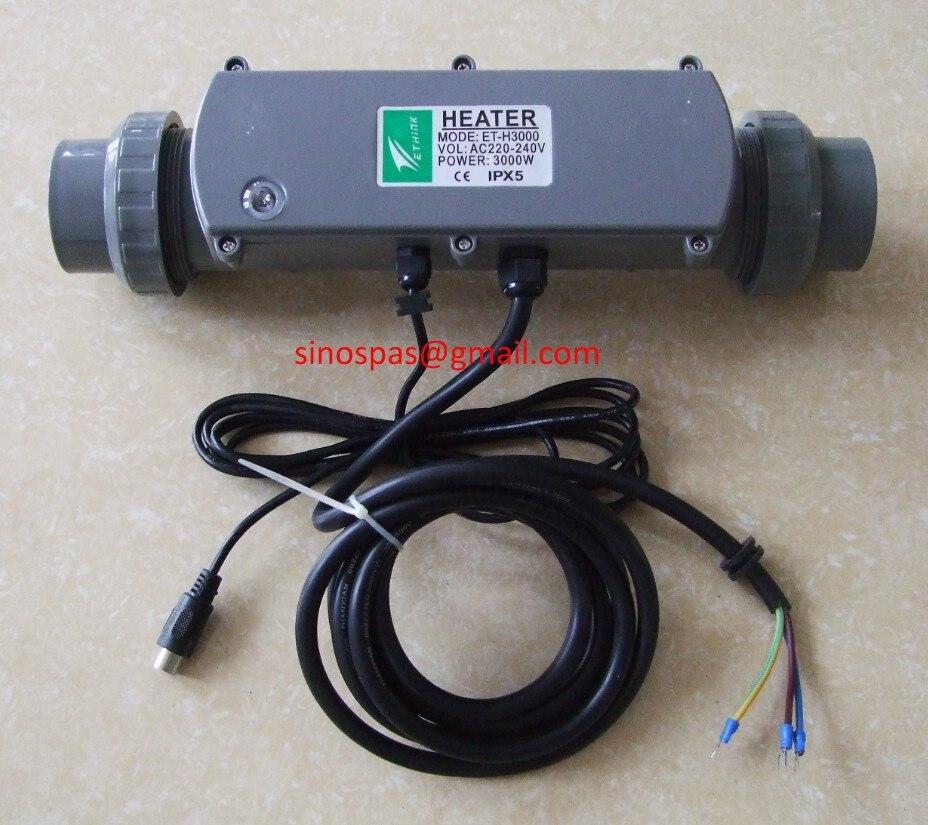 E-Pense ET-H3000 HeatSmart spa bain à remous chauffe-Ethink ET-H3000 IPX5 amélioré basé sur IPX7 JAZZI, YUEHUA, MEXDA HUANGTONG SPA