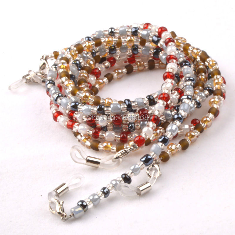 0e56ee0fa6dbdf Gros 20 PCS Colorful perle perlée lunettes Sunglass lunettes de lecture  titulaire chaîne cordon de livraison gratuite