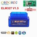 2016 Mini ELM327 Bluetooth V1.5 HW 25K80 ELM 327 OBD2 para Android Torque/PC Soporte Todos OBDII Protocolos 12 Idiomas Envío nave