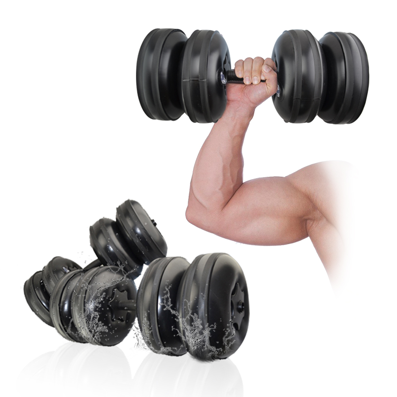 Dreamstone femmes haltères remplis d'eau équipement de Fitness musculaire corps minceur PPC haltères