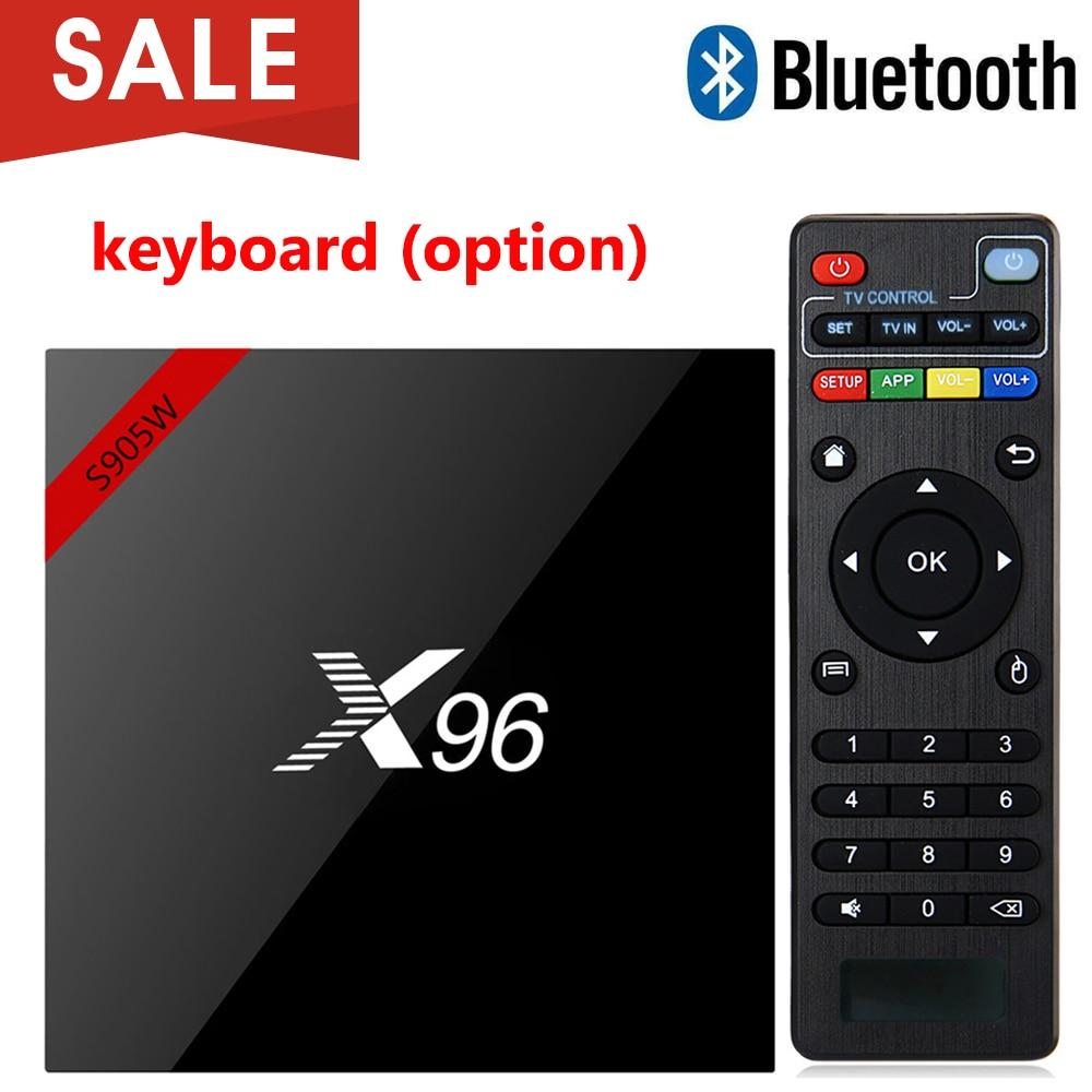 X96 X96W Android 7.1 TV Box Mini Box TV Amlogic S905W 1 + 8g 2 + 16g Bluetooth supporto 2.4 ghz WiFi HD 4 k Media Player Set top Box