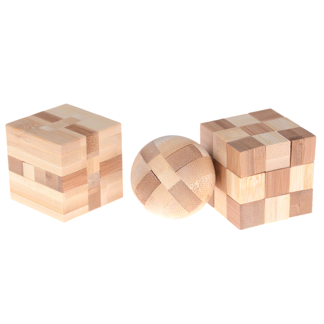 Kong Ming Luban Lock Kids Children 3D Handmade Wooden Toy Adult Intellectual Brain Tease Game Puzzle 6